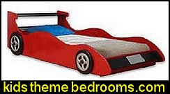 Twin Red Racing Car Bed Woodworking Plans