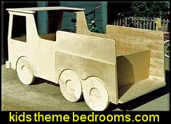 Woodworking Plan for Fire Truck Bed