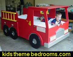 Woodworking Plan for Fire Truck Bed fire truck theme bed plans